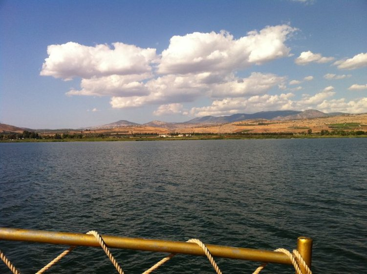 View from boat on Galilee